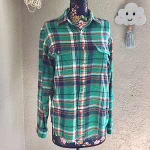 Polo by Ralph Lauren Green Button Down Flannel